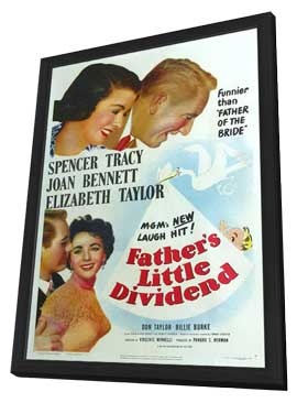 Father's Little Dividend - 11 x 17 Movie Poster - Style A - in Deluxe Wood Frame