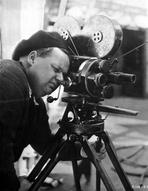 Fatty Arbuckle - Roscoe Arbuckle Posed in Director Attire With Video Recorder