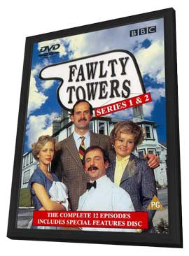 Fawlty Towers - 11 x 17 Movie Poster - UK Style A - in Deluxe Wood Frame