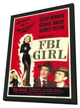 FBI Girl - 11 x 17 Movie Poster - Style A - in Deluxe Wood Frame