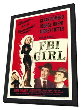 FBI Girl - 27 x 40 Movie Poster - Style A - in Deluxe Wood Frame