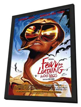 Fear and Loathing in Las Vegas - 27 x 40 Movie Poster - Style A - in Deluxe Wood Frame