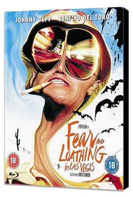 Fear and Loathing in Las Vegas - 11 x 17 Movie Poster - UK Style A - Museum Wrapped Canvas