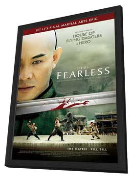Fearless - 11 x 17 Movie Poster - Style B - in Deluxe Wood Frame