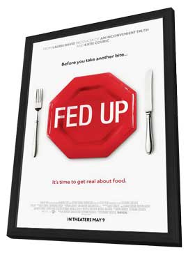Fed Up - 11 x 17 Movie Poster - Style A - in Deluxe Wood Frame