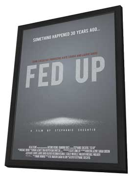Fed Up - 11 x 17 Movie Poster - Style B - in Deluxe Wood Frame