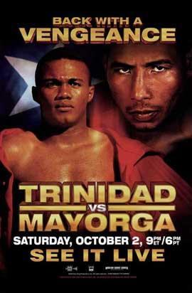 Felix Trinidad vs. Ricardo Mayorga - 11 x 17 Boxing Promo Poster - Style A