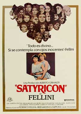 Fellini Satyricon - 11 x 17 Movie Poster - Spanish Style A