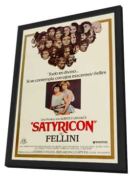 Fellini Satyricon - 11 x 17 Movie Poster - Spanish Style A - in Deluxe Wood Frame