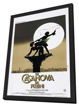 Fellini's Casanova - 11 x 17 Movie Poster - French Style A - in Deluxe Wood Frame