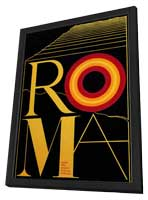 Fellini's Roma - 27 x 40 Movie Poster - Style B - in Deluxe Wood Frame