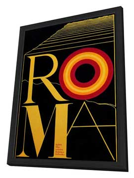 Fellini's Roma - 11 x 17 Movie Poster - Style B - in Deluxe Wood Frame