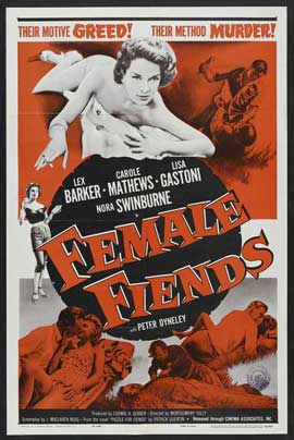 Female Fiends - 11 x 17 Movie Poster - Style A
