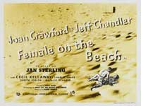 Female on the Beach - 22 x 28 Movie Poster - Half Sheet Style A