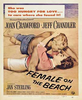 Female on the Beach - 11 x 17 Movie Poster - Style B