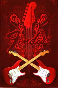 Fender - Music Poster - 22 x 34 - Style A