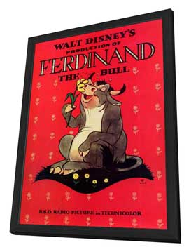 Ferdinand the Bull - 11 x 17 Movie Poster - Style A - in Deluxe Wood Frame