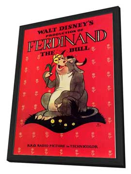Ferdinand the Bull - 27 x 40 Movie Poster - Style A - in Deluxe Wood Frame
