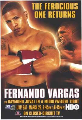 Fernando Vargas vs. Raymond Joval - 11 x 17 Boxing Promo Poster - Style A