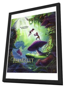 Ferngully: The Last Rain Forest - 27 x 40 Movie Poster - Style B - in Deluxe Wood Frame