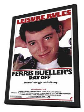 Ferris Bueller's Day Off - 11 x 17 Movie Poster - Style B - in Deluxe Wood Frame