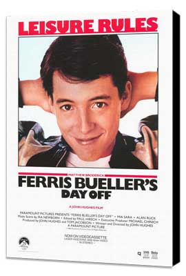 Ferris Bueller's Day Off - 11 x 17 Movie Poster - Style C - Museum Wrapped Canvas