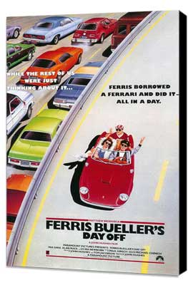Ferris Bueller's Day Off - 11 x 17 Movie Poster - Style E - Museum Wrapped Canvas