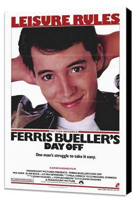 Ferris Bueller's Day Off - 27 x 40 Movie Poster - Style B - Museum Wrapped Canvas