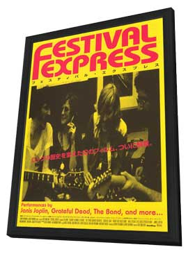 Festival Express - 11 x 17 Movie Poster - Japanese Style A - in Deluxe Wood Frame