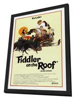 Fiddler on the Roof - 27 x 40 Movie Poster - Style C - in Deluxe Wood Frame