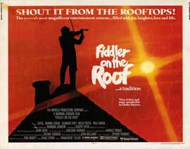 Fiddler on the Roof - 22 x 28 Movie Poster - Half Sheet Style A