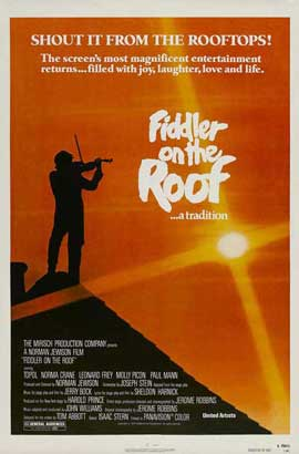 Fiddler on the Roof - 27 x 40 Movie Poster - Style E
