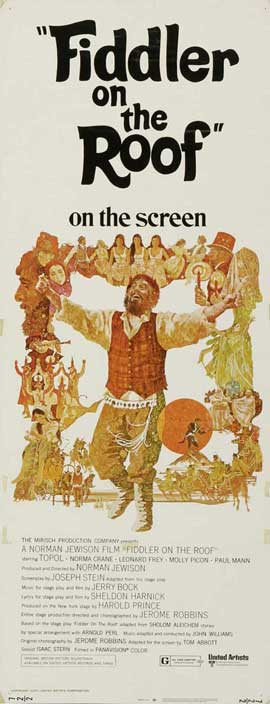 Fiddler on the Roof - 13 x 30 Movie Poster - Australian Style A