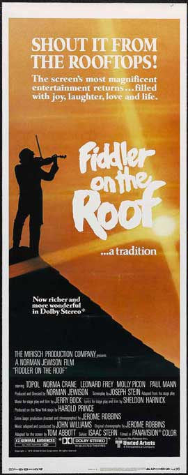 Fiddler on the Roof - 14 x 36 Movie Poster - Insert Style B