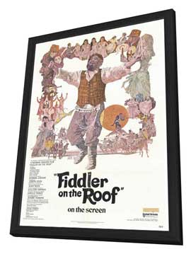 Fiddler on the Roof - 27 x 40 Movie Poster - Style A - in Deluxe Wood Frame
