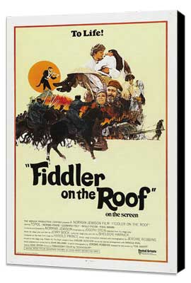 Fiddler on the Roof - 27 x 40 Movie Poster - Style C - Museum Wrapped Canvas