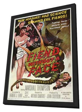 Fiend without a Face - 11 x 17 Movie Poster - Style A - in Deluxe Wood Frame
