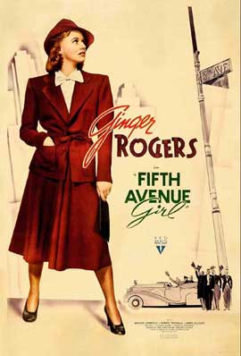 Fifth Avenue Girl - 11 x 17 Movie Poster - Style B
