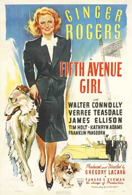 Fifth Avenue Girl - 11 x 17 Movie Poster - Style C