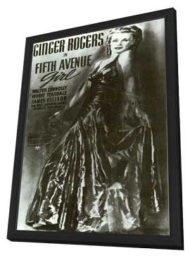 Fifth Avenue Girl - 11 x 17 Movie Poster - Style A - in Deluxe Wood Frame