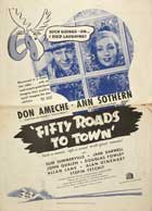 Fifty Roads to Town - 27 x 40 Movie Poster - Style A