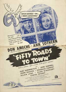 Fifty Roads to Town - 11 x 17 Movie Poster - Style A