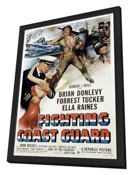 Fighting Coast Guard - 11 x 17 Movie Poster - Style A - in Deluxe Wood Frame
