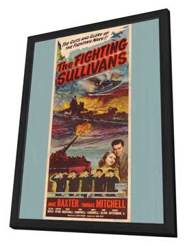 Fighting Sullivans, Show Boat - 27 x 40 Movie Poster - Style A - in Deluxe Wood Frame