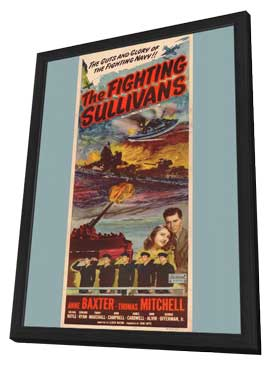 Fighting Sullivans, Show Boat - 11 x 17 Movie Poster - Style A - in Deluxe Wood Frame