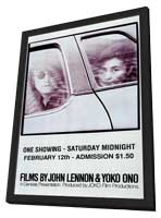 Films By John Lennon & Yoko Ono - 11 x 17 Movie Poster - Style A - in Deluxe Wood Frame