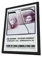 Films By John Lennon & Yoko Ono - 27 x 40 Movie Poster - Style A - in Deluxe Wood Frame