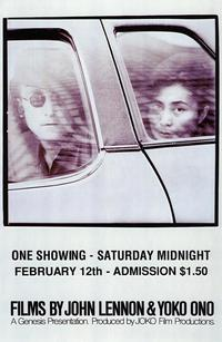 Films By John Lennon & Yoko Ono - 43 x 62 Movie Poster - Bus Shelter Style A