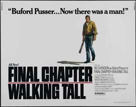 Final Chapter: Walking Tall - 22 x 28 Movie Poster - Half Sheet Style A