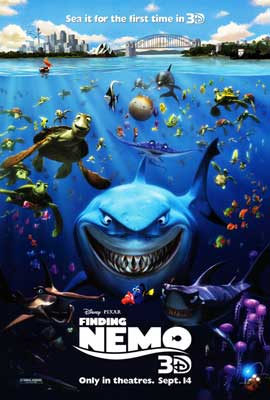 Finding Nemo (3D/2D) - DS 1 Sheet Movie Poster - Style A